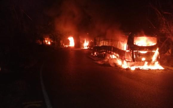 Quema de vehículos en Valdivia era parte de un plan criminal: Ejército