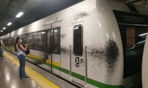 Nuevo acto vandálico contra el metro de Medellín